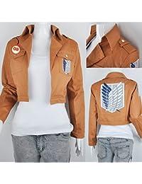 SYMTOP Moda Ataque en Titan Shingeki no Kyojin Scouting Legión Disfraces para Chico Hombre - L