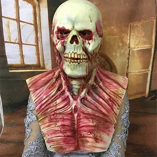 LFIWN Blutige Zombie Maske Halloween Scary Masken Party Cosplay Schädel Teufel Horror Masque Maskerade Wimperntusche Ghost Terror Masker Latex