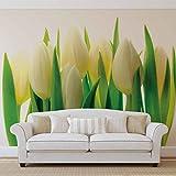 Blumen Tulpen Natur - Forwall - Fototapete - Tapete - Fotomural - Mural Wandbild - (894WM) - XXL - 312cm x 219cm - VLIES (EasyInstall) - 3 Pieces