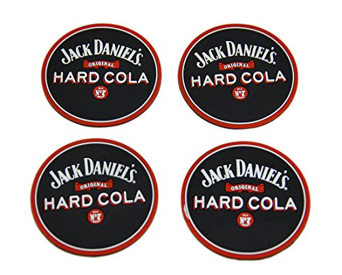 Set di 4sottobicchieri in gomma cola jack Daniels mini Beverage tappetini