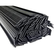Alambre de soldadura de plástico PE-HD Negro 8x2mm Plano HDPE 25 barra