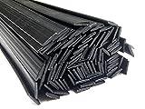 Filo saldatura plastica PE-HD 8x2mm Piatta Nero 25 barra HDPE