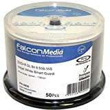 FTI 50 Falcon Media BD-R Smart Guard Inkjet White Printable (4x) 25GB 1 x 50 Pack On Spindle