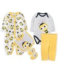 GudeHome mameluco recién nacidos bebes ropa para bebés nacido Romper ropa muñeca largos ropa de niño de la manga+calcetines+baberos+Body+pantalones
