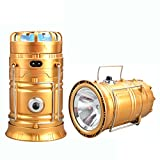Shopo's Multifunction Rechargeable LED Camping Light Lanterns Solar Powered Fan