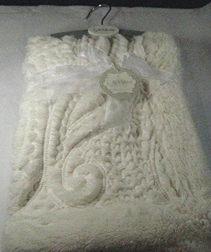 Kyle & Deena Weiche Plüsch Baby Decke creme 76,2x 76,2cm 100% Polyester