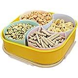 XQXSellado compartimento con caja de plástico del caramelo la tapa de la caja de frutas secas frutos secos , yellow