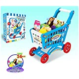 ElectroBot Shopping Cart Toy With Fruits And Vegetables For Kids 56 Pcs