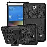 XITODA Hülle für Samsung Galaxy Tab 4 7.0, Hybrid TPU Silikon & Schwer PC Cover Schutzhülle für Samsung Galaxy Tab 4 7.0 SM-T230/T231/T235 Tablet Case Hülle mit Kickstand/Stand - Schwarz