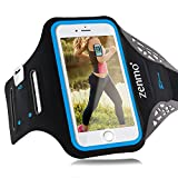 Sportarmband Hülle iPhone 6 Plus, zenmo Armtasche Hülle Oberarmtasche Mit Schlüsselhalter, Kabelfach, Anti Rutsch Fitness Armband für Gymnastik, Jogging, Workout für iPhone 6s/ 7plus, Samsung Galaxy S7/ S6/ S5, 5.5