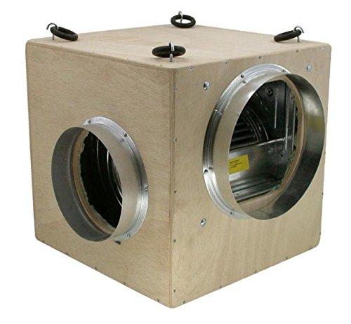 Unbekannt GIB PrimaKlima Ensemble de Ventilation avec Filtre à Charbon Actif Soft Box Turin 550 m³/h Kit d'éléments flottants Professionnel pour Grow Home Box/