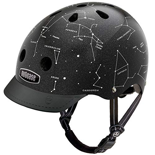 Nutcase Nutcase Kinder Street Malachite Helm, schwarz (Constellations), S