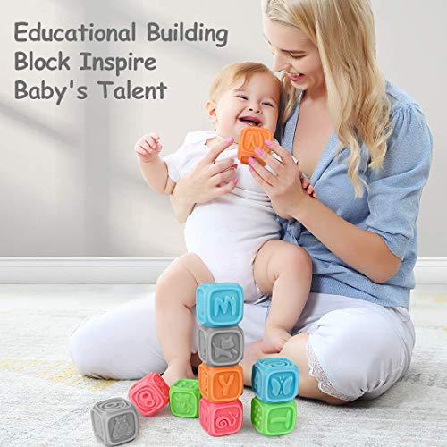 Bloques para bebés,  Juguetes para Masticar la dentición Juguetes educativos para el baño del bebé Juegue con números,  Formas,  Animales,  Insectos de la Letra N Durante 0- 3 años