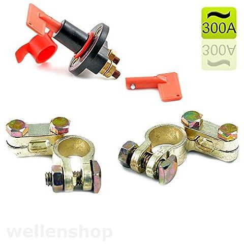 Batteriepolklemmen 16 - 18 mm + 12V Batteriehauptschalter