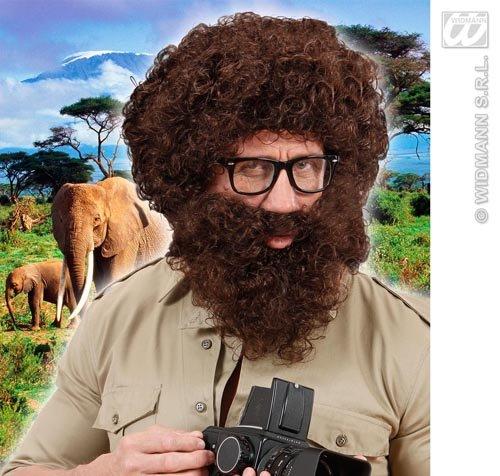 Perücke mit Bart Alan aus der Hangover Explorer Fancy Kleid (Alan Hangover Perücke)