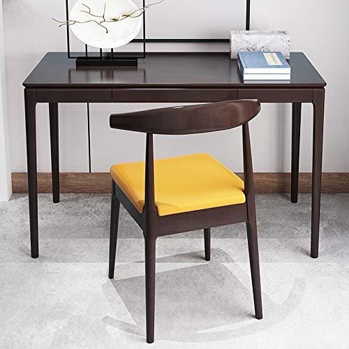 Cotangle-he classico tavolo per cameretta dei bambini, scrivania per computer per ragazzi e ragazze, slot per matite, postazione di lavoro per la scuola (senza sedia), legno, marrone, 140x60x75cm