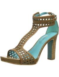 Primafila 880010 - Sandalias de cuero para mujer, color marrón, talla