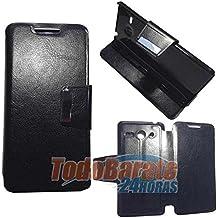 Funda negra libro soporte Huawei Ascend Y530