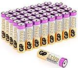 Batterie AA confezione da 40-1,5V / LR06 / MN1500 / AM3 da GP Batteries serie Extra Alcaline Ideali per: Giochi/Controller/Torce/Mouse adatte per un uso quotidiano in molti dispositivi
