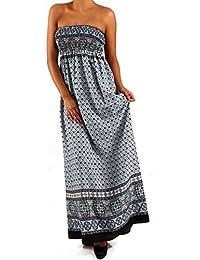 Robe longue bustier long pour femme style hippie dress