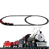VigorQ Classical Locomotive Battery Operated Electric Train Set and Go Toy Train With
