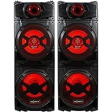 Pareja de altavoces BLUETOOTH con 70W*2 de potencia. Incluye Micrófono. Cuenta con entrada para guitarra. Altavoces GO-ROCK GR-701