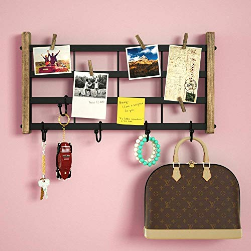 Generic * Gitter Platte Eisen mit D-Platte, Wal Decor Holz Mesh Grid Panel Wand od Iron Display TRO Display Clip Haken Retro Ks, Retro Display (Grid-display-panels)