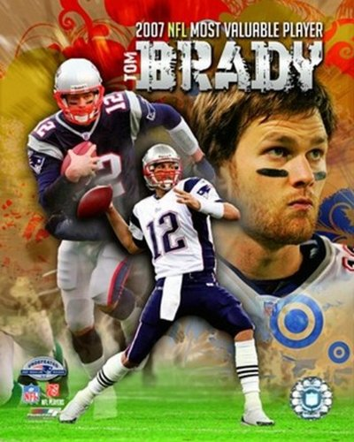 The Poster Corp Tom Brady - 2007 NFL MVP Portrait Plus Photo Print (27,94 x 35,56 cm) -