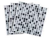 """'Infactory Deko Piastrelle Adesivo: etichetta 3d delle mattonelle di mosaico adesivo """"dezent 26x 26cm, Set da pezzi (adesiva Liese)"""