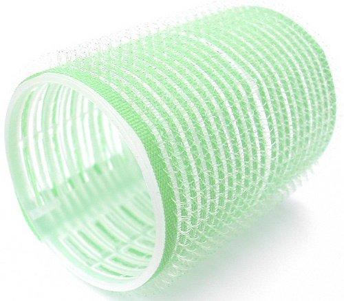 Hair Tools - Pack de 12 Rouleaux Velcro pour Cheveux - Taille Large - 48 mm - Vert