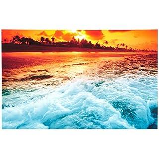 Group Asir LLC 4570IACT - 45 Decorative Led Shining Light Painting Canvas, Multi-Colour
