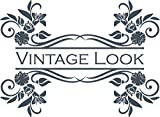 GRAZDesign 750106_57_841 Wandtattoo Vintage Look | Wandsticker Tattoo für Dein Wohnbereich | Wandaufkleber als Wand-Dekoration (78x57cm//841 Blue Grey)