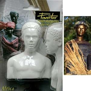 Demi Buste Homme Africain en plâtre - Powertex