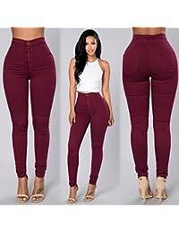 Hiroo Mujer Moda Pantalones vaqueros Pantalones vaqueros Pantalones Leggings Elásticos Slim fit Pantalones Lápiz Pantalones de cintura alta cremallera delgada tobillo