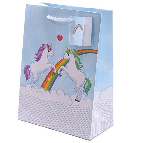 Fun Einhorn Design Medium glänzend Geschenk Tüte