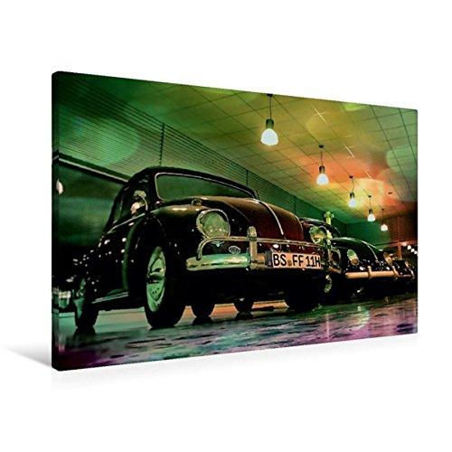 Premium Textil-Leinwand 90 cm x 60 cm quer, Oldtimer aus Deutschland | Wandbild, Bild auf Keilrahmen, Fertigbild auf echter Leinwand, Leinwanddruck: VW Käfer (CALVENDO Mobilitaet)