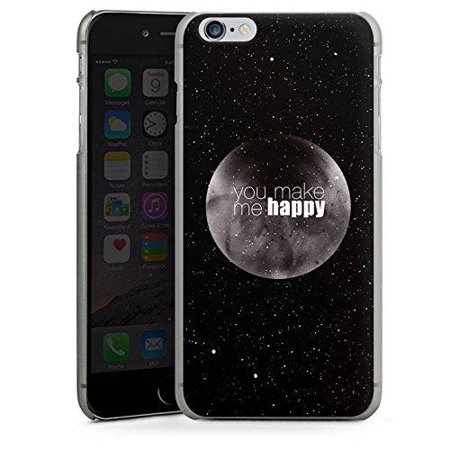 Apple iPhone X Silikon Hülle Case Schutzhülle Happy Mond Love Hard Case anthrazit-klar