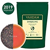 VAHDAM® Tè Darjeeling in foglie (150+ tazze), ricco e aromatico, tè nero Second Flush, certificato al 100% come puro e non miscelato, direttamente dall'India, 255g