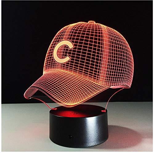 Baseball Team Cap 3D Licht Hiphop Hut Nachtlicht LED Schreibtisch Tischlampe für Kinder Schlafen Licht Für Sport Fan Beste Geschenk