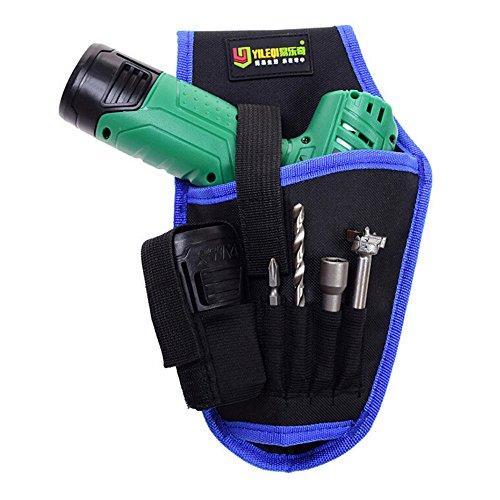 Gürteltasche kit elektrische bohrtasche Portable Akku Bohrmaschine Halter Holster Werkzeugtasche Bohrer Taille Werkzeug Oxford Tasche (Blau)