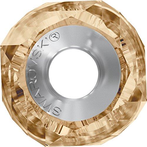 Cristaux de Swarovski 1184498 Perles Cristal 5928 MM 14,0 Crystal GOL.Shadow Steel, 12 Pièces