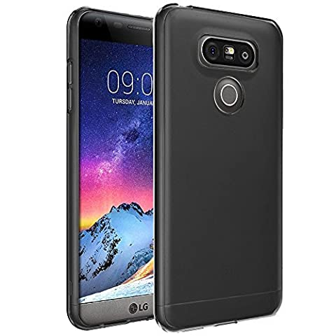 Housse LG G6, Etui Housse Coque de protection Ultra Fine Silicone TPU Gel Pour LG G6 (Jelly - Noir)