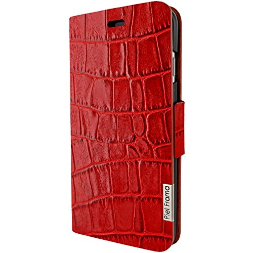 """Piel Frama """"FramaSlim"""" Lederhülle für Apple iPhone 7, verschiedene Farben Rot, Kroko-Optik"""