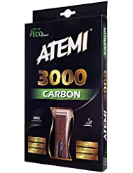 Atemi Pro Tischtennisschläger Carbon 3000 - Überlegene Kontrolle und Kraft - Aus natürlichem, nicht-gefärbtem exotischen Holz - Ping Pong Schläger - ITTF zugelassen - für Spieler aller Level
