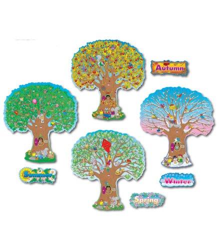 Carson Dellosa cd-3214Vier Jahreszeiten Bäume Bulletin Board Set