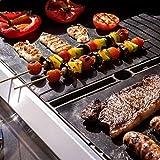 Hans Grill Grillmatte für den BBQ, 3er Set Baken & Kochbeständig & 100% Anti-haftend, FDA zugelassen PFOA frei 40 x 22 Zo