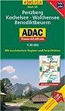 Penzberg, Kochelsee, Walchensee, Benediktbeuern: 1:30000. Alpen/Voralpen. GPS-genau.
