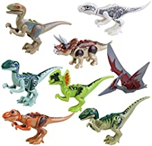 PIXNOR Jurassic Park dinosaurio Jurásico mundo dinosaurio de construcción de juguete bloques de juguete - 8pcs