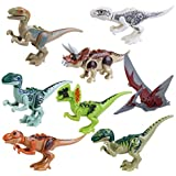 PIXNOR dinosaurio Jurásico mundo dinosaurio de construcción de juguete bloques de juguete - 8pcs