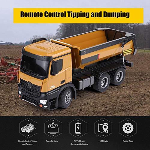 RC Baufahrzeug kaufen Baufahrzeug Bild 1: Dilwe RC Muldenkipper, HUINA 1573 1/14 Skala 2,4 GHz RCDumping Truck Auto Fernbedienung Engineering Fahrzeug Spielzeug Geschenk für Kinder*